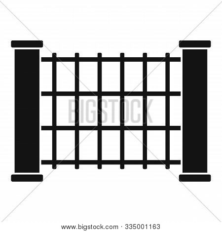 Stone Tower Fence Icon. Simple Illustration Of Stone Tower Fence Vector Icon For Web Design Isolated
