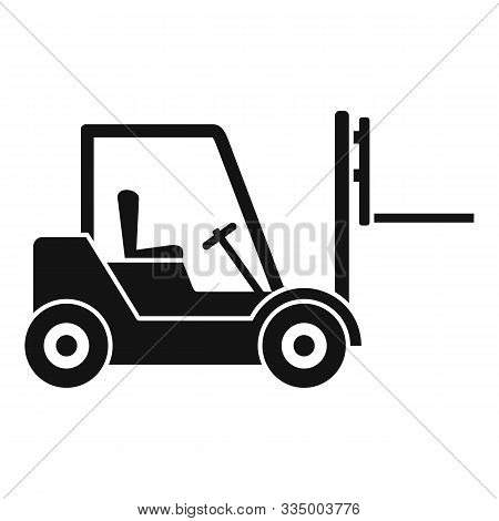Warehouse Forklift Icon. Simple Illustration Of Warehouse Forklift Vector Icon For Web Design Isolat