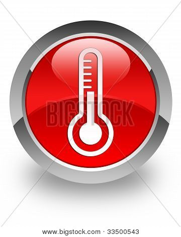 Thermometer glossy icon