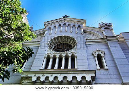 Beautiful San Bartolome Parish Facade In Murcia