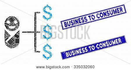 Mosaic Baby Expenses Icon And Rectangular Rubber Prints. Flat Vector Baby Expenses Mosaic Pictogram