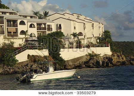 Boat and homes