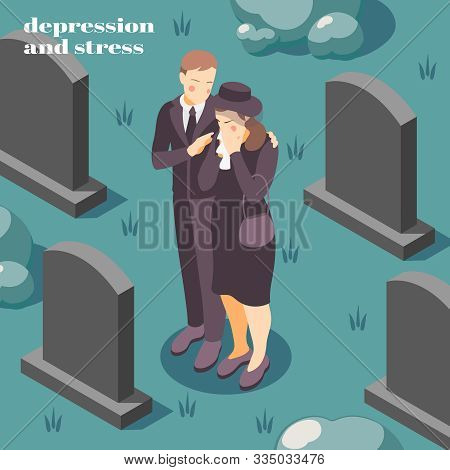 Mental Health Depression Stress Isometric Composition On Coping With Grief Loss Death Of Loved One V