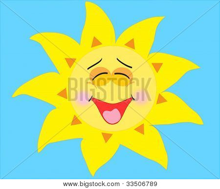illustration of a happy smiling sun