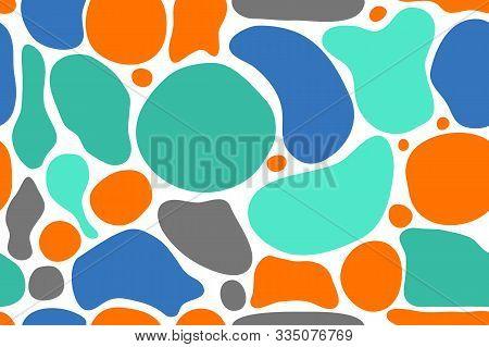 Organic Seamless Pattern, Vector Abstract Texture, Modern Print, Geometric Graphic Design