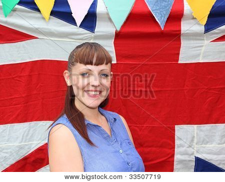 Young lady Celebrating the Queens Jubilee