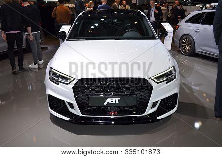 Geneva, Switzerland, March 06-2018: Abt Audi Rs3 At Gims