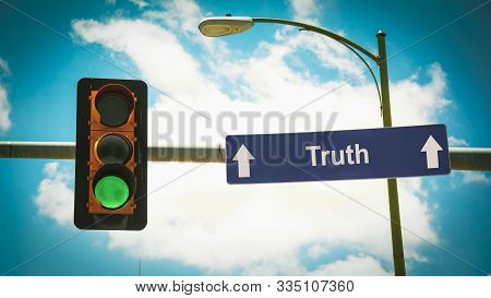 Street Sign The Direction Way To Truth