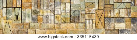 Background. Banner. Facing Tile Banner. Ornament Background. Geometric Background. Ancient Geometric