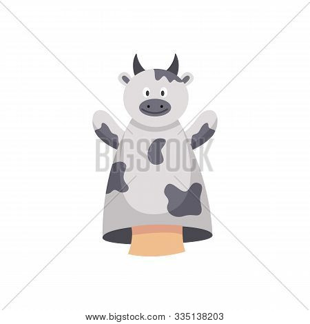 Hand Puppet Toy For Children Development Flat Vector Illustration Isolated.