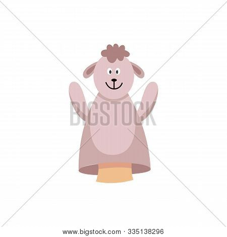 Sweet Ship Hands Toy Or Puppet For Theater Flat Vector Illustration Isolated.