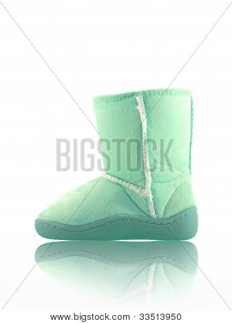 Ugg boots siolated against a white background poster