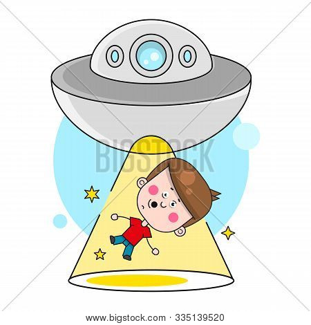 The Kidnapping Of The Space Bowl Illustration Vector Suitable For Greeting Card, Poster Or T-shirt P