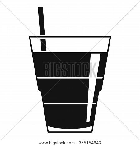 Tonic Cocktail Icon. Simple Illustration Of Tonic Cocktail Vector Icon For Web Design Isolated On Wh