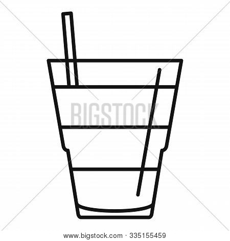 Tonic Cocktail Icon. Outline Tonic Cocktail Vector Icon For Web Design Isolated On White Background
