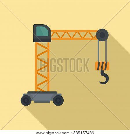 Capacity Crane Icon. Flat Illustration Of Capacity Crane Vector Icon For Web Design