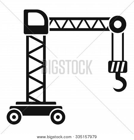 Capacity Crane Icon. Simple Illustration Of Capacity Crane Vector Icon For Web Design Isolated On Wh
