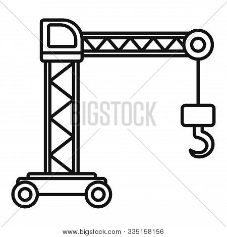 Capacity Crane Icon. Outline Capacity Crane Vector Icon For Web Design Isolated On White Background