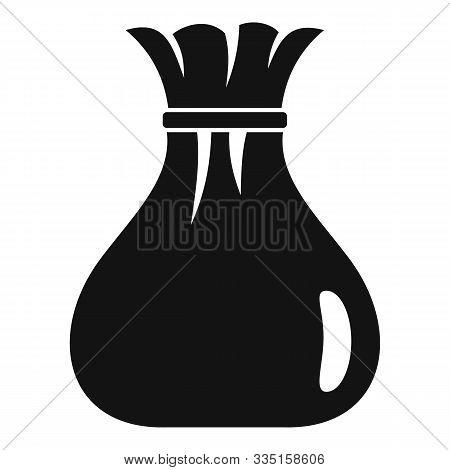 Burlap Sack Icon. Simple Illustration Of Burlap Sack Vector Icon For Web Design Isolated On White Ba