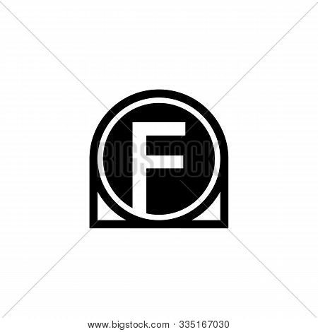 F Letter Icon Design With Circle. Abstract Circle Letter F Creative Alphabet Logo Icon Design. Lette