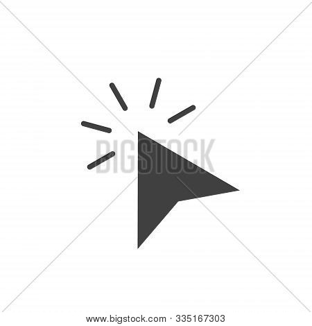 Click Icon, Click Icon Vector, In Trendy Flat Style Isolated On White Background. Click Icon Image,