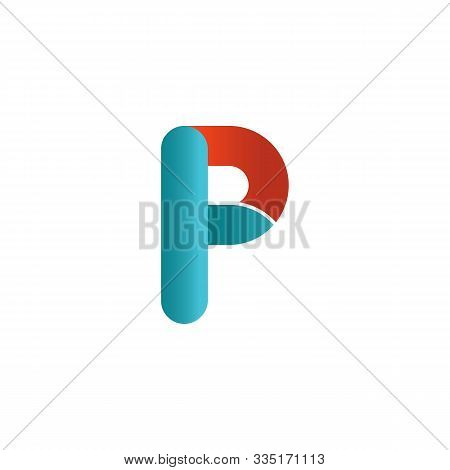 Colorful Creative Letter P Logo Design Vector Template. Colorful Alphabet P Logo. Letter P Typeface.