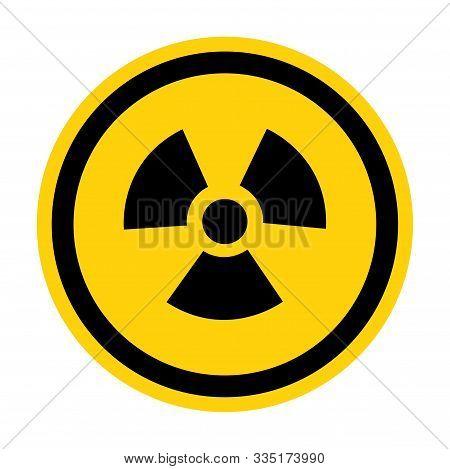 Radiation Hazard Symbol Sign Isolate On White Background,vector Illustration