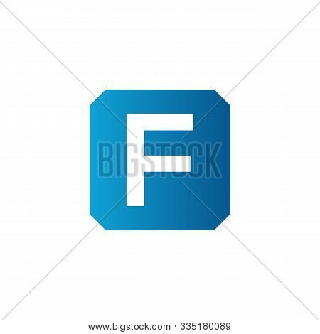 Initial Square Letter F Icon Logo Vector Template. Abstract Square F Logo. Square Letter F App Icon.