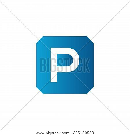Initial Square Letter P Icon Logo Vector Template. Abstract Square P Logo. Square Letter P App Icon.