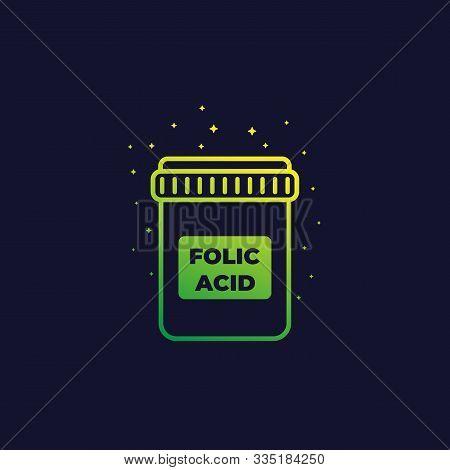 Folic Acid Icon, Vector, Eps 10 File, Easy To Edit