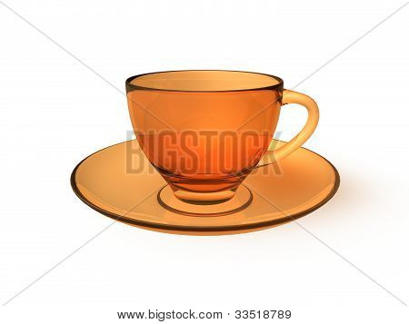 Orange Glass Cup