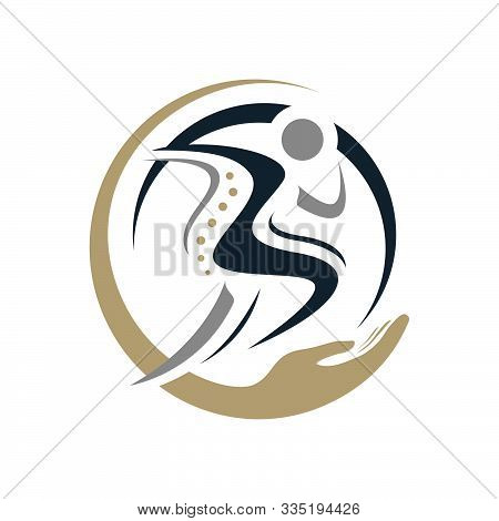 Chiropractic Physiotherapy Logo Design. Creative Human Spinal Health Care Medical Template