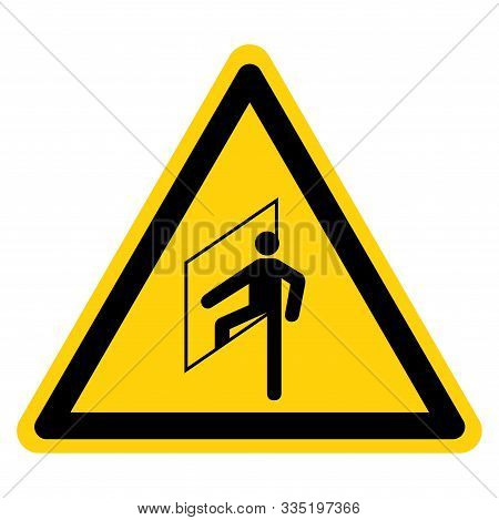Warning Do Not Enter Confined Space Symbol Sign ,vector Illustration, Isolate On White Background La