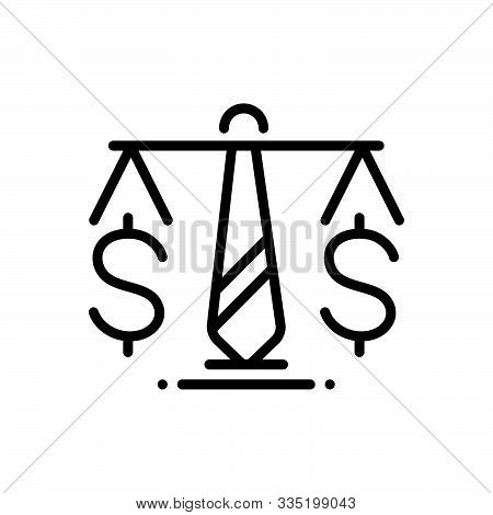 Black Line Icon For Business-law Business Law Enactment Enaction Lawmaking