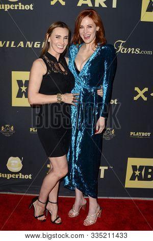 LOS ANGELES - NOV 20:  Tanya Tate, Maitland Ward at the XBIZ Nominations Gala at the W Hollywood Hotel on November 20, 2019 in Los Angeles, CA