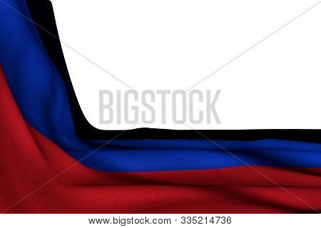 Nice Anthem Day Flag 3d Illustration  - Isolated Mockup Of Donetsk Peoples Republic Flag Hangs In Co