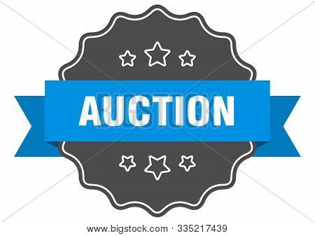 Auction Blue Label. Auction Isolated Seal. Auction