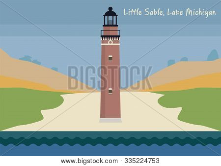 Little Sable Point Light On Lake Michigan, United States