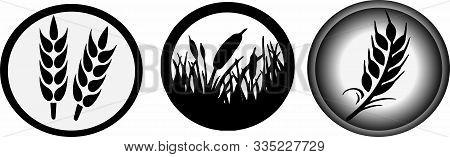 Wheat Icon On White Background  Wheat Icon, Wreath