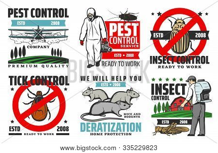 Pest Control Service, Professional Extermination, Home Disinsection And Domestic Disinfection. Vecto