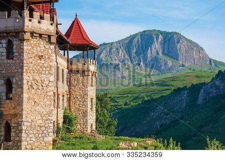 Cheile Valisoarei, Alba, Romania - 29 Apr, 2018: Hotel Castle