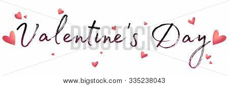 Valentines Day Background With Heart Pattern And Typography Of Happy Valentines Day Text . Wallpaper