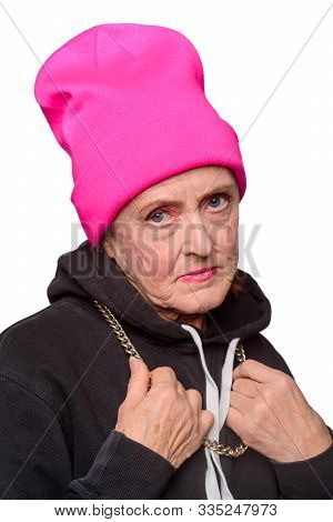 My Granny Became A Rude Gangsta. An Old Lady Transformed Her Look