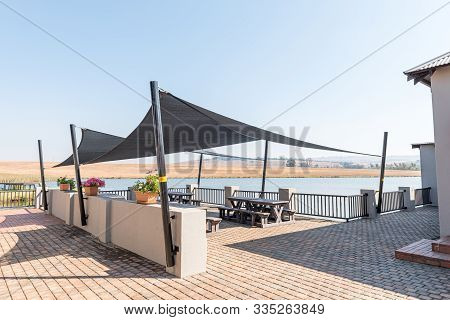 Machadodorp, South Africa - May 22, 2019: Outdoor Eating Area At Millys Retaurant Near Machadodorp I