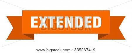 Extended Ribbon. Extended Isolated Sign. Extended Banner