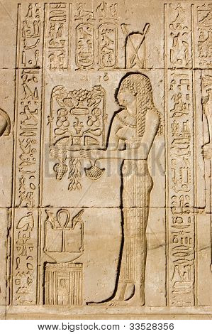 Priestess offering to Goddess Neith