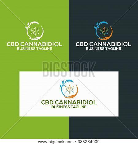 Cbd Logo Icon With Business Card Vector Template, Cbd Cannabidiol Cannabis Hemp Marijuana Medical Ph