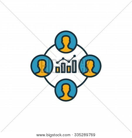 Analytic Group Icon. Outline Filled Creative Elemet From Business Management Icons Collection. Premi