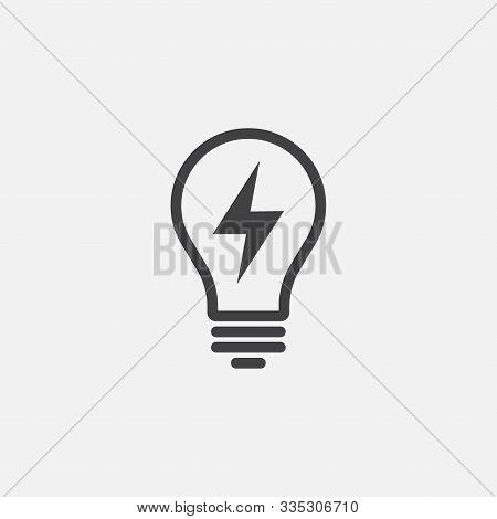 Vector Image Of Lamp. Lightbulb Icon Design, Lightbulb Linear Icon Vector, Idea Sign Icon, Solution