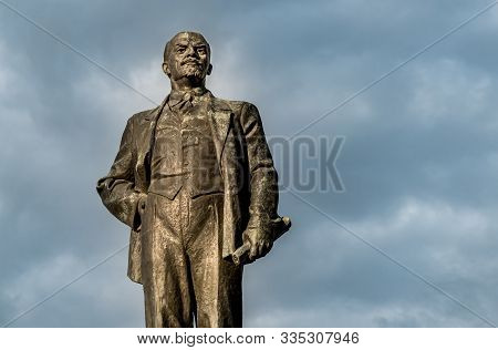 Pskov, Russian Federation - May 4, 2018: Monument To Vladimir Ilyich Lenin On The Lenin Square In Ce